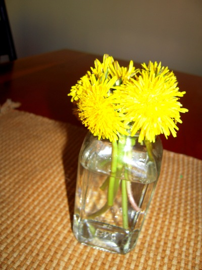 A bundle of sunshine given to me by my 4-year-old :)