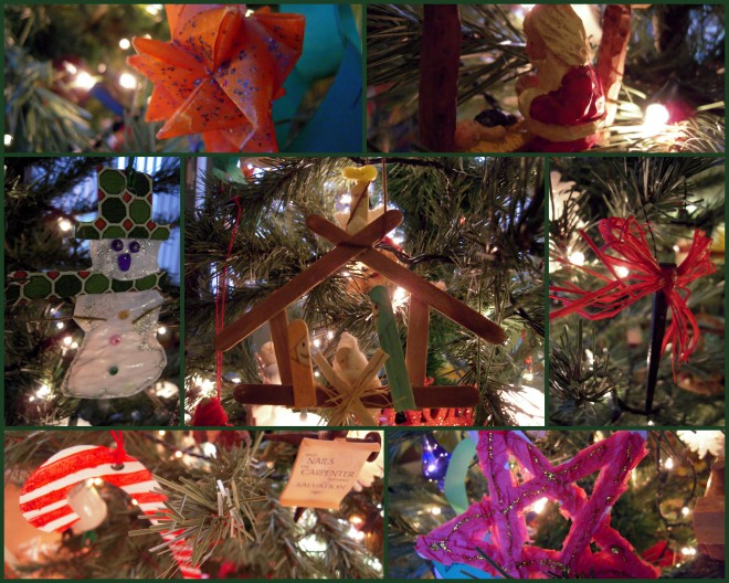 Christmas Ornament Collage ~ Simplystriving CC